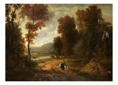 English Hunt Scene Oil on Canvas