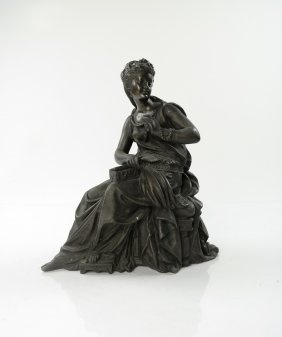 19th C. Figure Of A Seated Woman