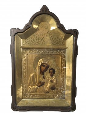 Russian Icon, Mother And Child