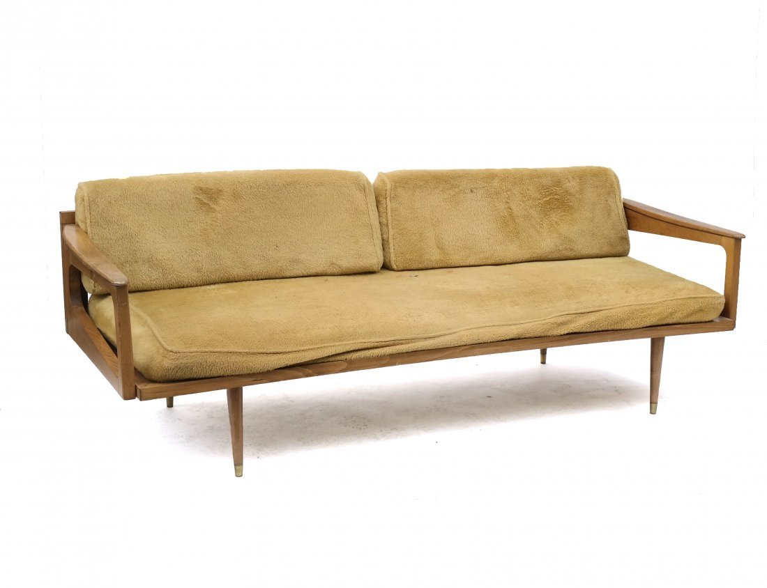 Mid-Century Modern Convertible Sofa on LiveAuctioneers