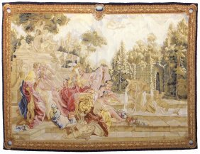 Aubusson-style Tapestry, Figural Scene