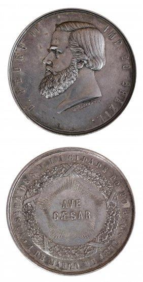 Brazil 1872 Dom Pedro II Silver Medal