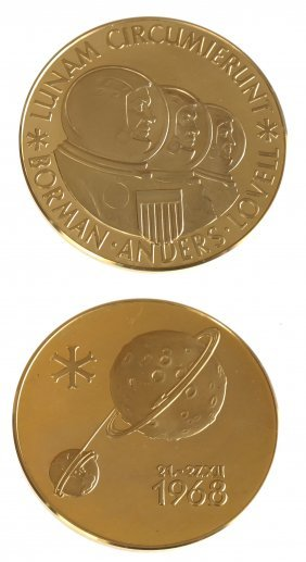 Aureus Magnus 1968 Apollo VIII Gold Medal