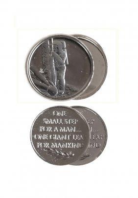 Two U.S. 1969 Apollo XI Platinum Medals