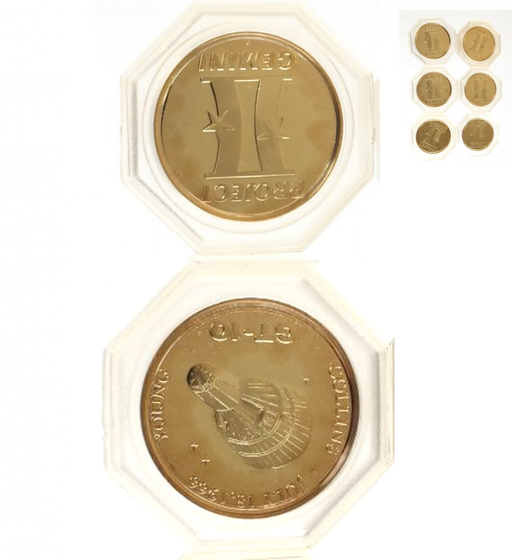 Six U.S. C.1962 Project Mercury Medals