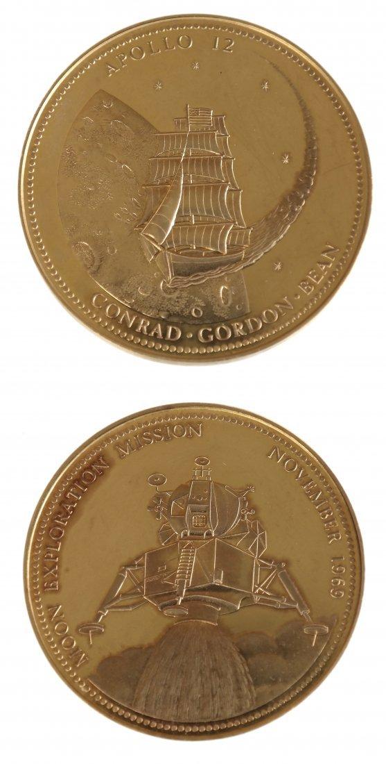U.S. 1969 Apollo XII Gold Medal
