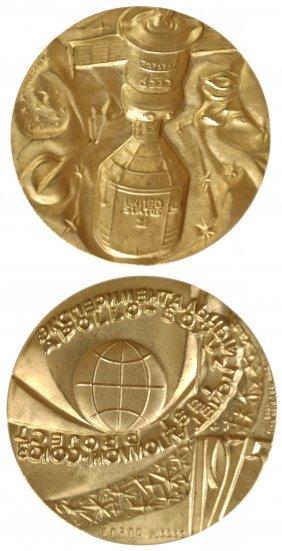 U.s.s.r 1975 Space Program Gold Medal