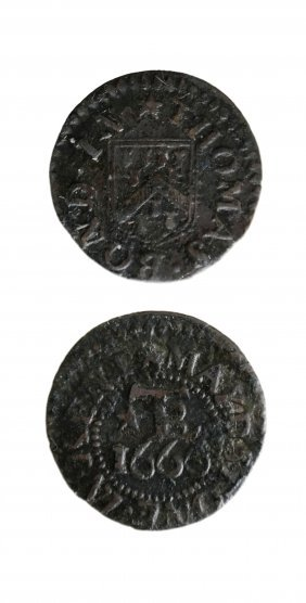 Maidstone 1666 Thomas Bond Farthing