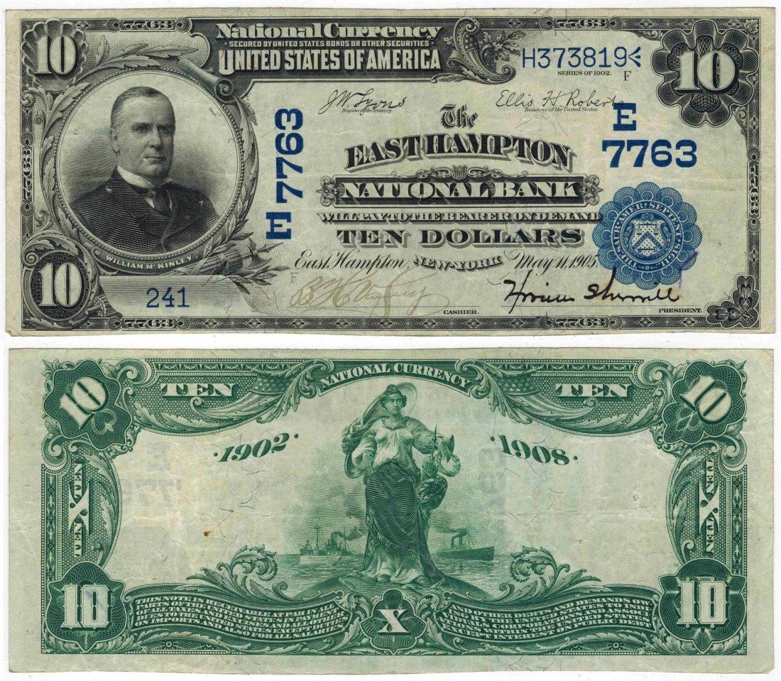 U.S. 1902 $10 National Bank Note