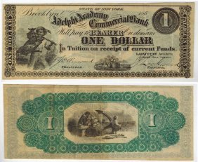 Adelphi Academy Commercial Bank $1 Note
