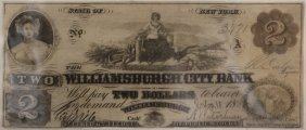 Williamsburgh City Bank $2 Obsolete Note