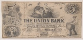 Union Bank Sullivan Co $5 Obsolete Note