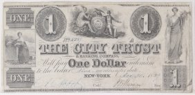 City Trust & Banking Co $1 Obsolete Note