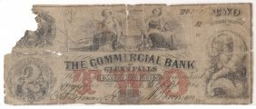 Commercial Bank Glens Falls $2 Note