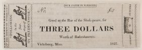 Bar Of Shakspeare 1837 $3 Satirical Note