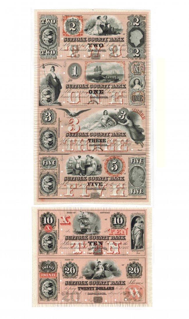 Suffolk Co Bank 1844 Obsolete Notes Sheet