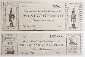 Custis' Bar 1837 Satirical Notes
