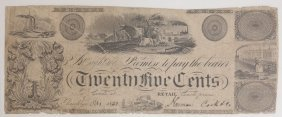 Harmon Cook & Co. 1851 25¢ Scrip Note