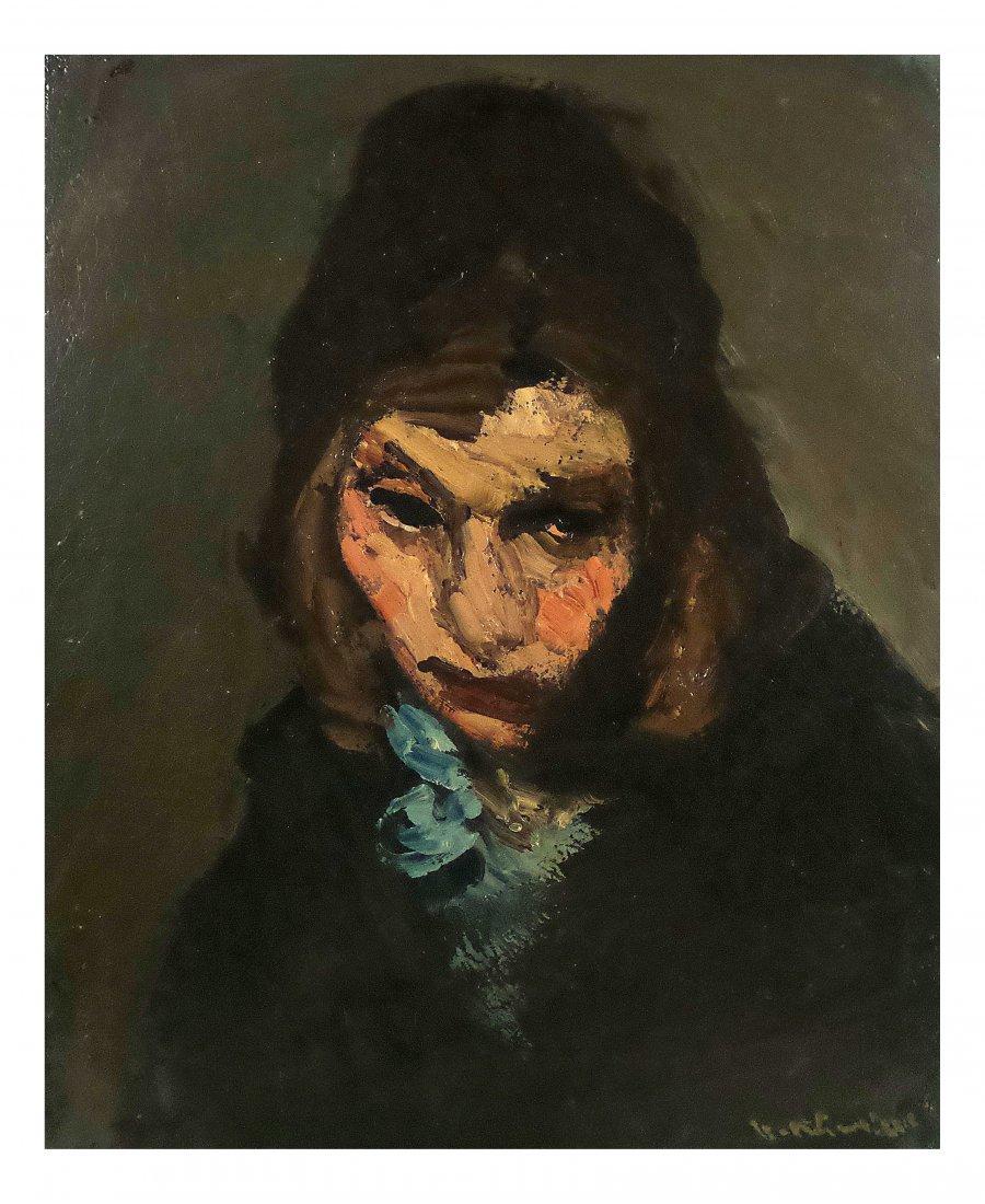 Vassyl Khmeluk, Oil on Board - Woman
