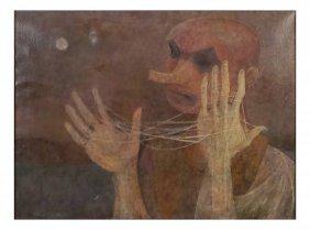 R.w. Jansen, Oil On Canvas - Harlequin