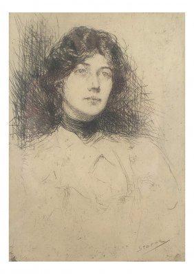 M. Sterne, Etching - Portrait