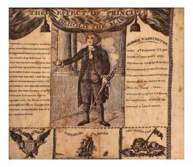 George Washington 1806 Handkerchief