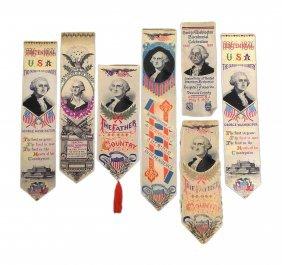 George Washington - Six Centennial Ribbons