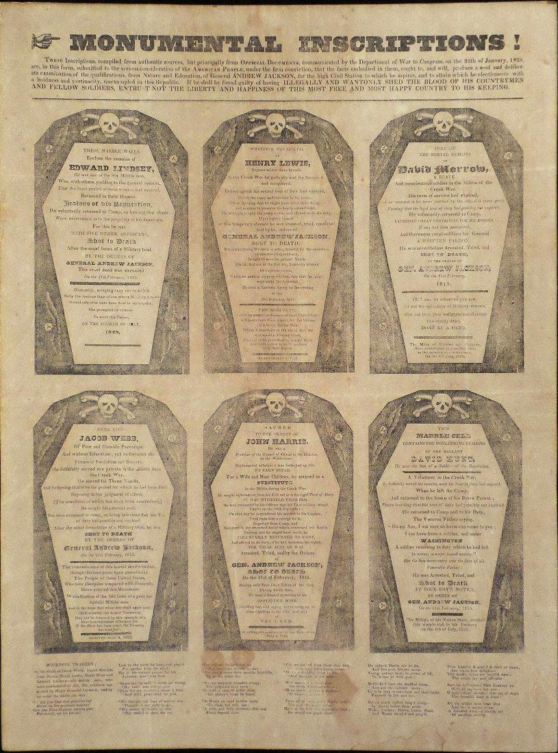 "Andrew Jackson - First ""Coffin"" Handbill - 2"