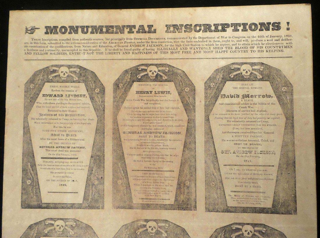 "Andrew Jackson - First ""Coffin"" Handbill - 3"