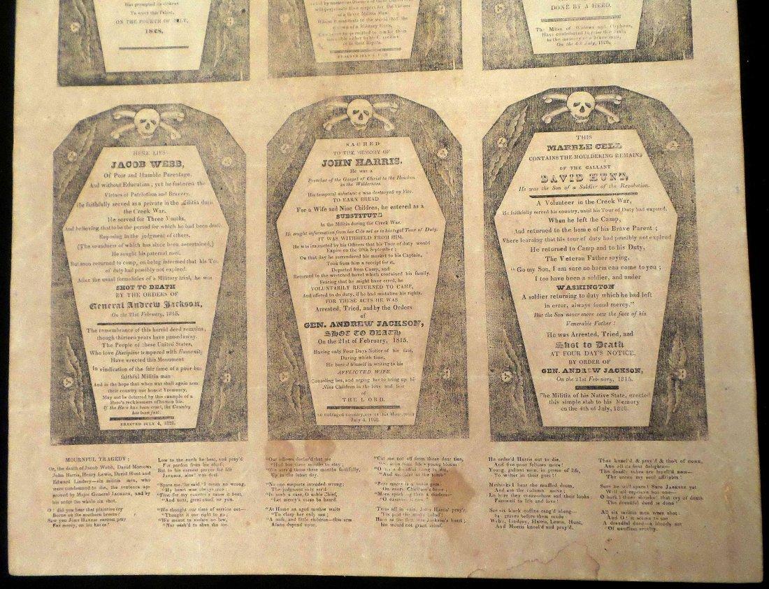 "Andrew Jackson - First ""Coffin"" Handbill - 4"