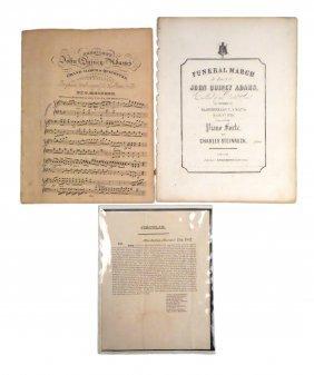 John Quincy Adams  - Administration Broadside