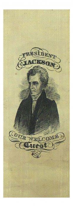 Andrew Jackson - Rare Portrait Ribbon