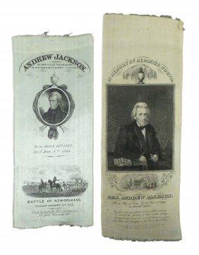 Andrew Jackson - Two Memorial Ribbons
