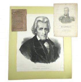 Andrew Jackson - Printed Ephemera (3)