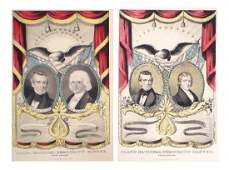 Polk & Dallas - Two Grand National Democratic Banners