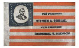 Douglas & Johnson - 1860 Pictorial Campaign Flag