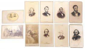 Lincoln, Family, And Cabinet - Cdv.s