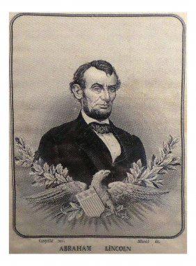 Abraham Lincoln - Woven Silk Portrait