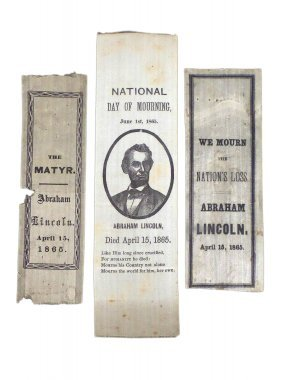 Lincoln - Three Mourning Ribbons