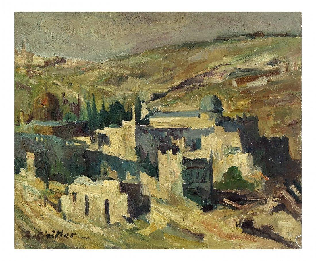 L. Baitler, Oil on Canvas - Jerusalem