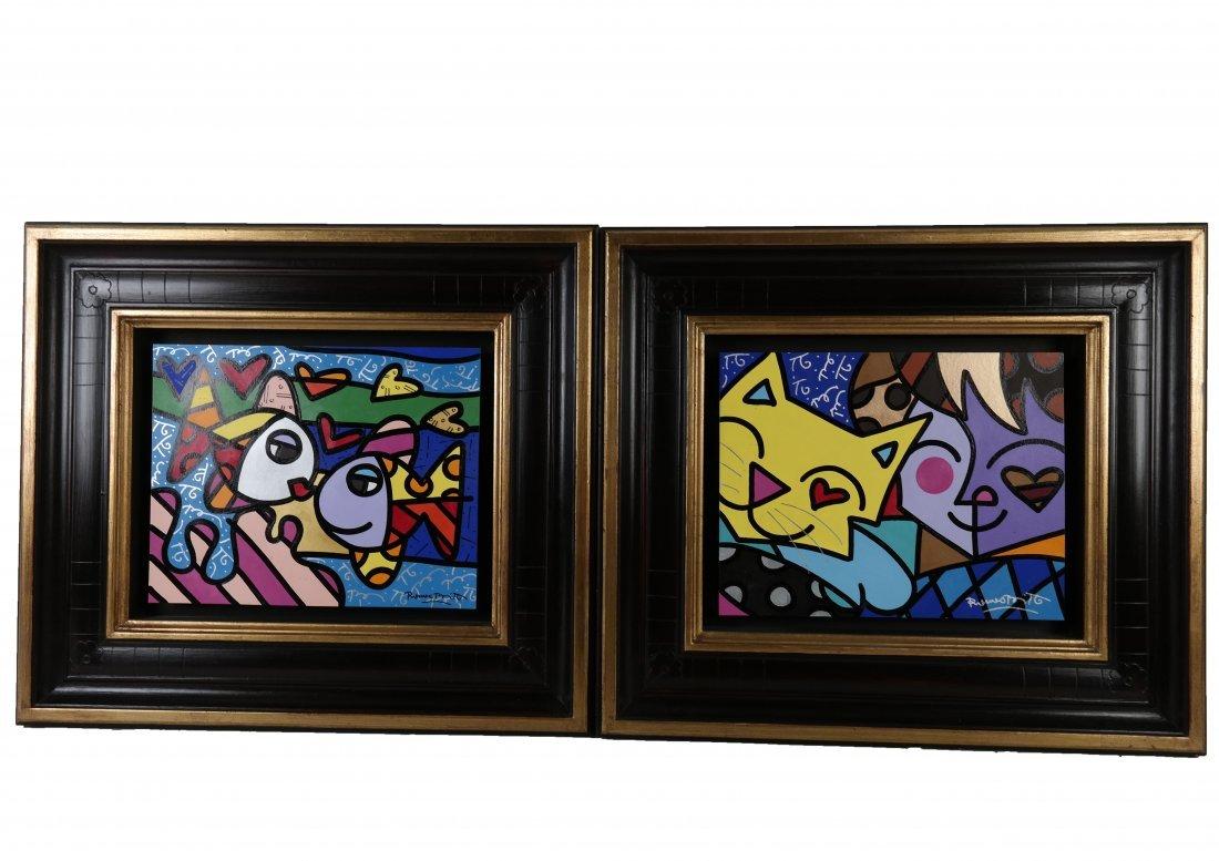 Pair of Romero Britto Paintings