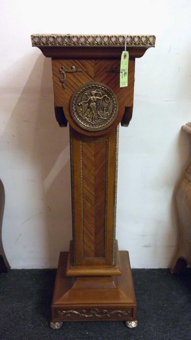 Kingwood Bronze Mounted Pedestal