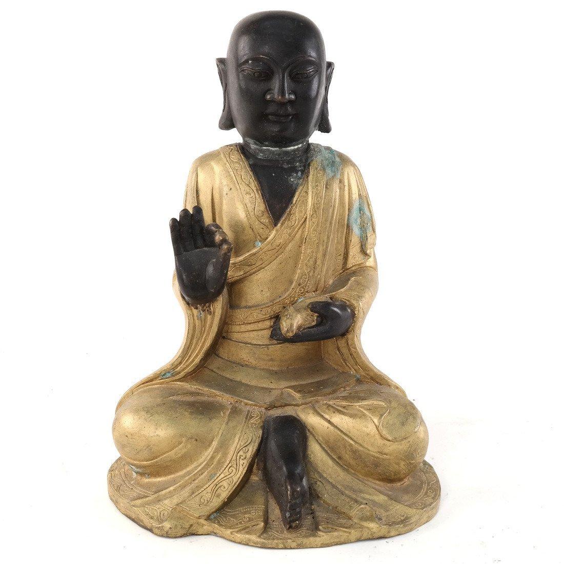 Bronze and Gilt Buddha
