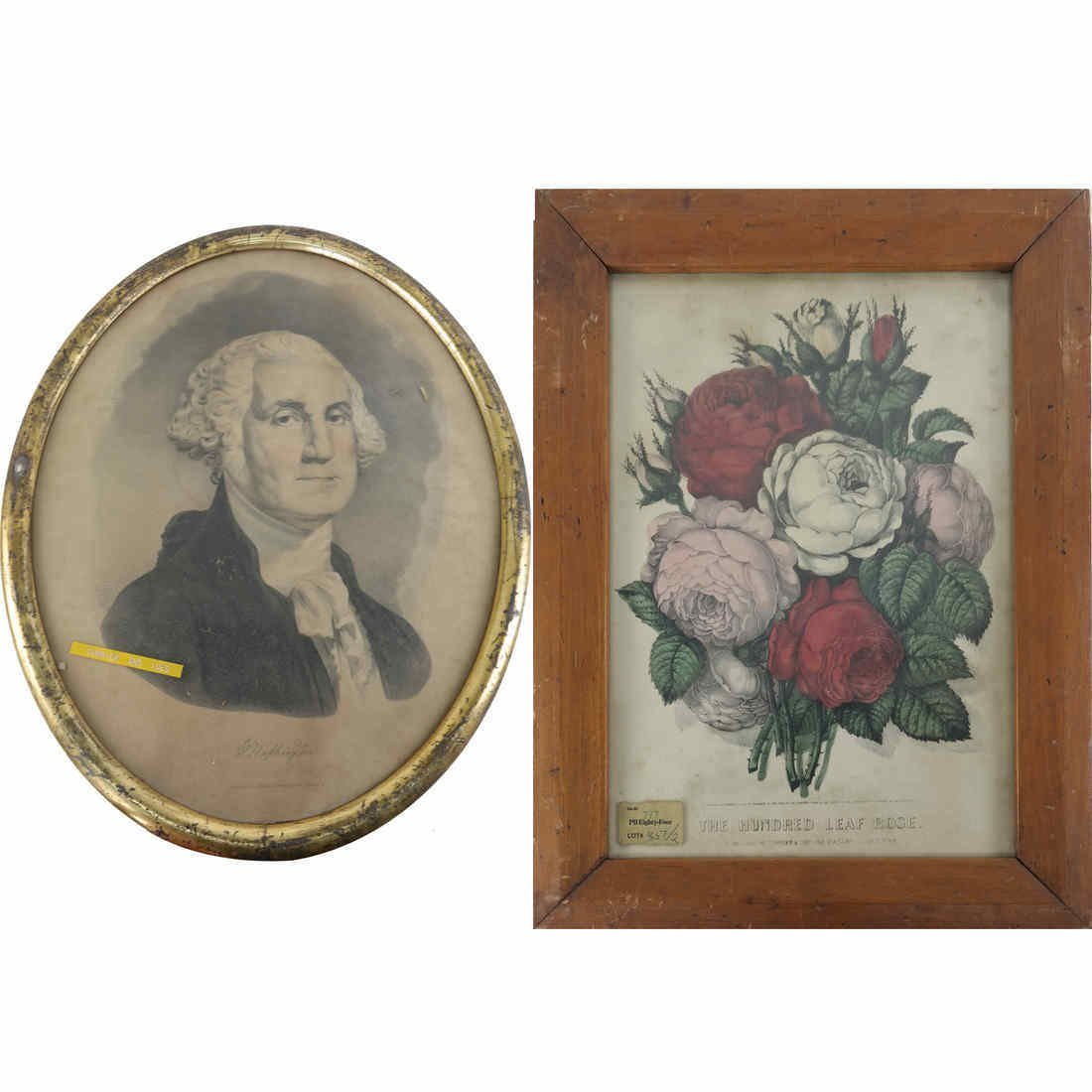 Two Framed Currier and Ives Lithographs