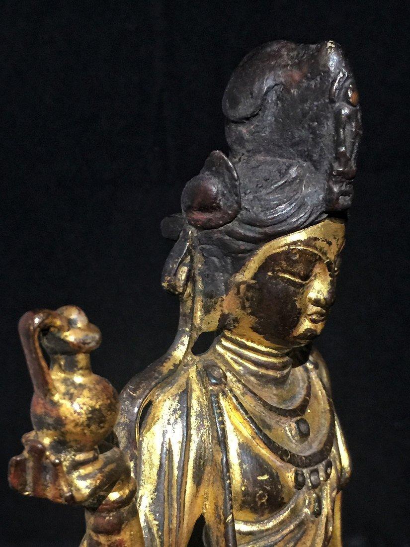 Gilt Bronze Standing Buddha Statue - 10