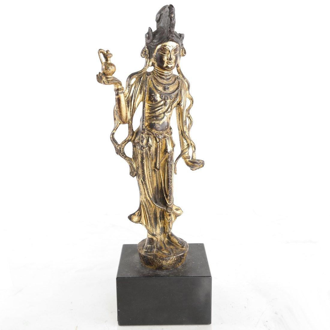 Gilt Bronze Standing Buddha Statue