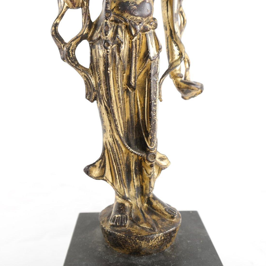Gilt Bronze Standing Buddha Statue - 7