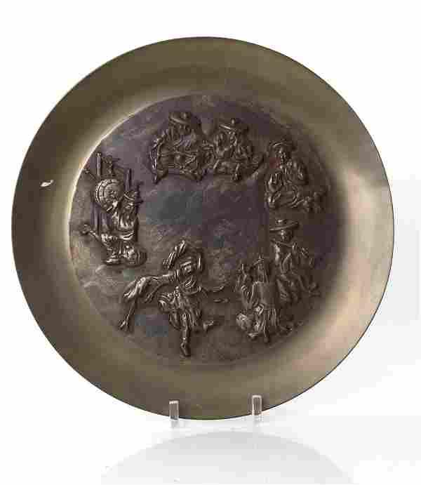 Korean Bronze Decorative Charger