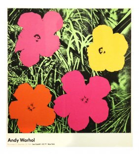 Andy Warhol, 1964 Exhibition Poster - Flowers