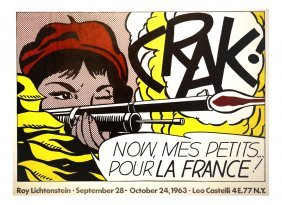 Roy Lichtenstein, 'crak', Exhibition Poster